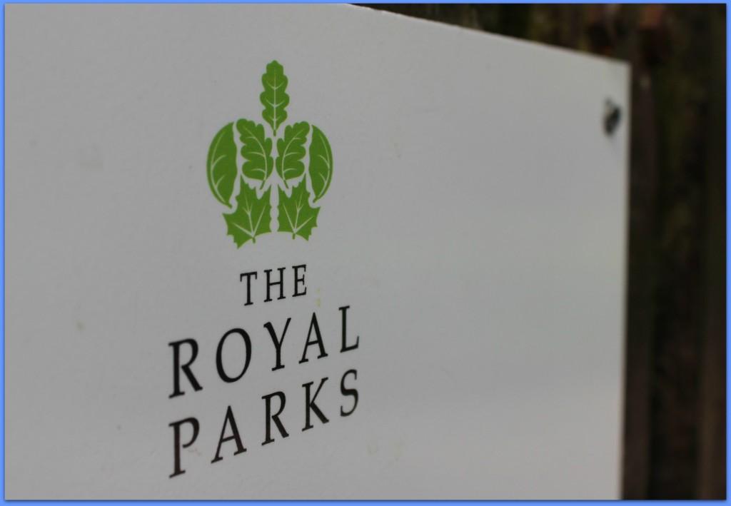 the royal parks bushy park sign