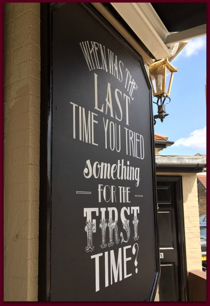pub sign fist times
