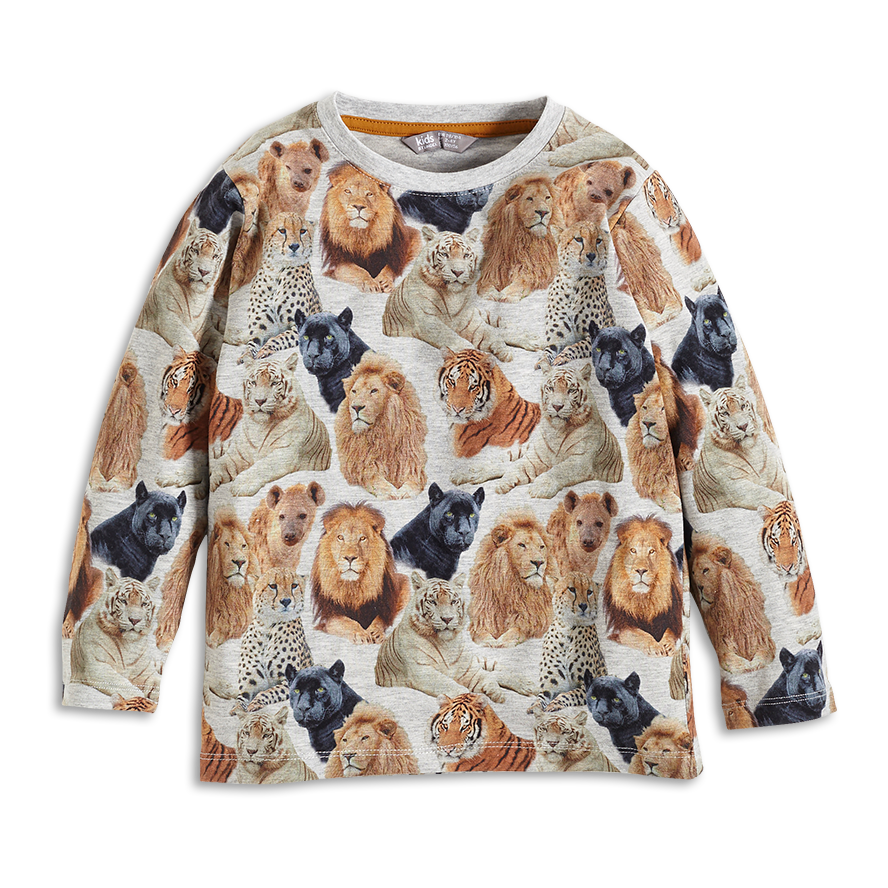 A gorgeous and fun sweatshirt from Swedish brand Lindex. Love the print with the big cats!