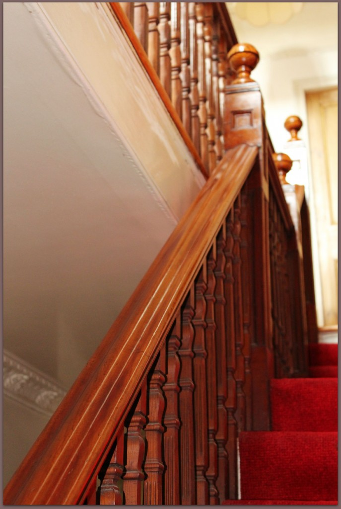 The beauitful banisters in our house