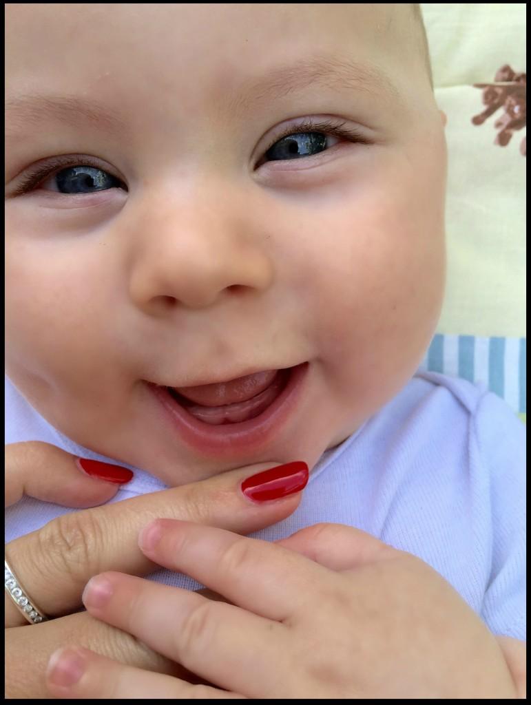Caspian's first two teeth