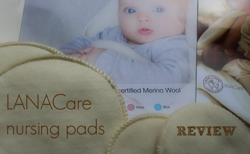 Reuseable nursing pads from Danish brand LANACare. Made from 100% organic merino wool.