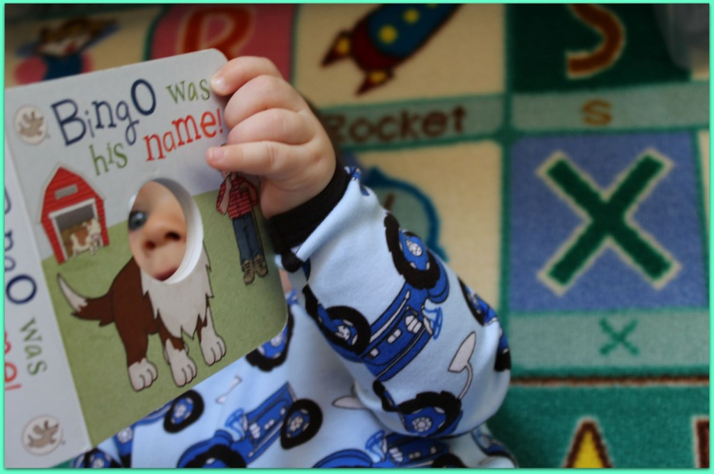 Caspian reading one of the great Little Learner books from Parragon
