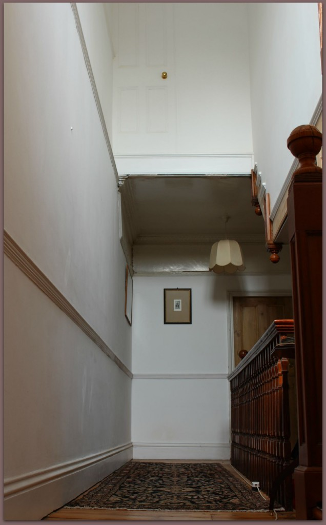 The quirky floating door in our hall way