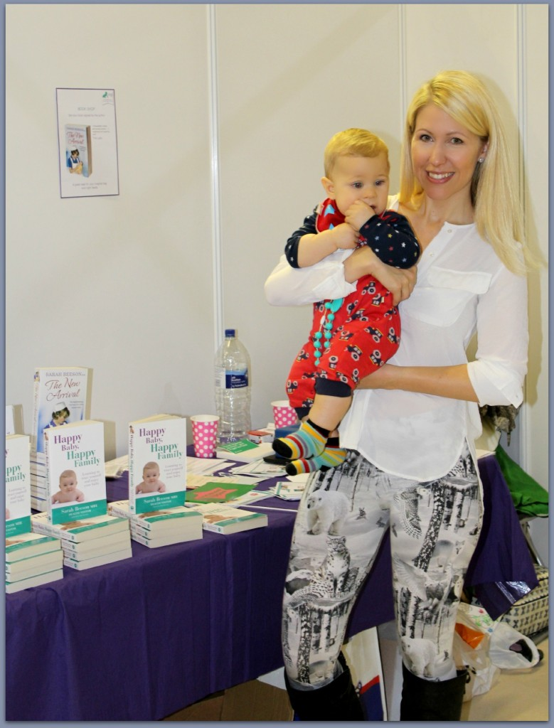 Visiting the Happy Baby, Happy Family stand at The Baby Show