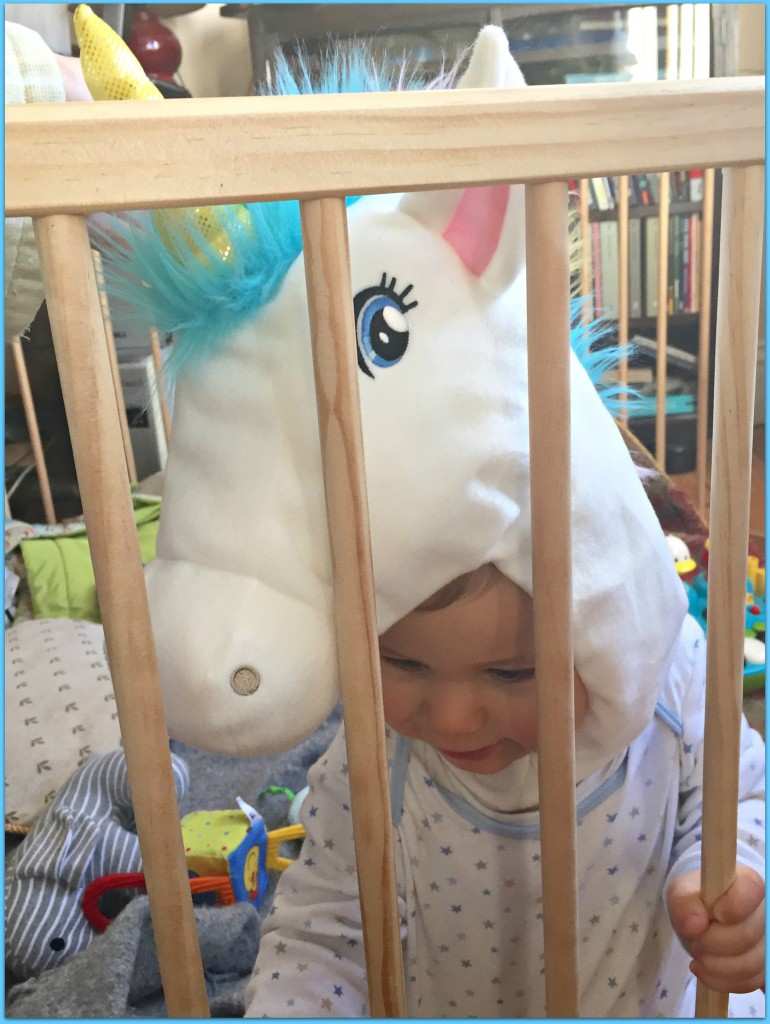Caspian dressed a unicorn for Halloween. We got the hat at h&m.
