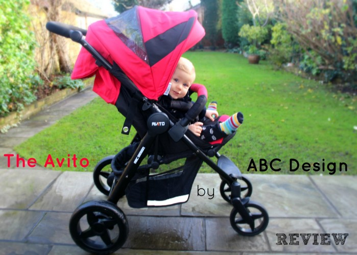 Caspian loves his new Avito stroller from ABC Design