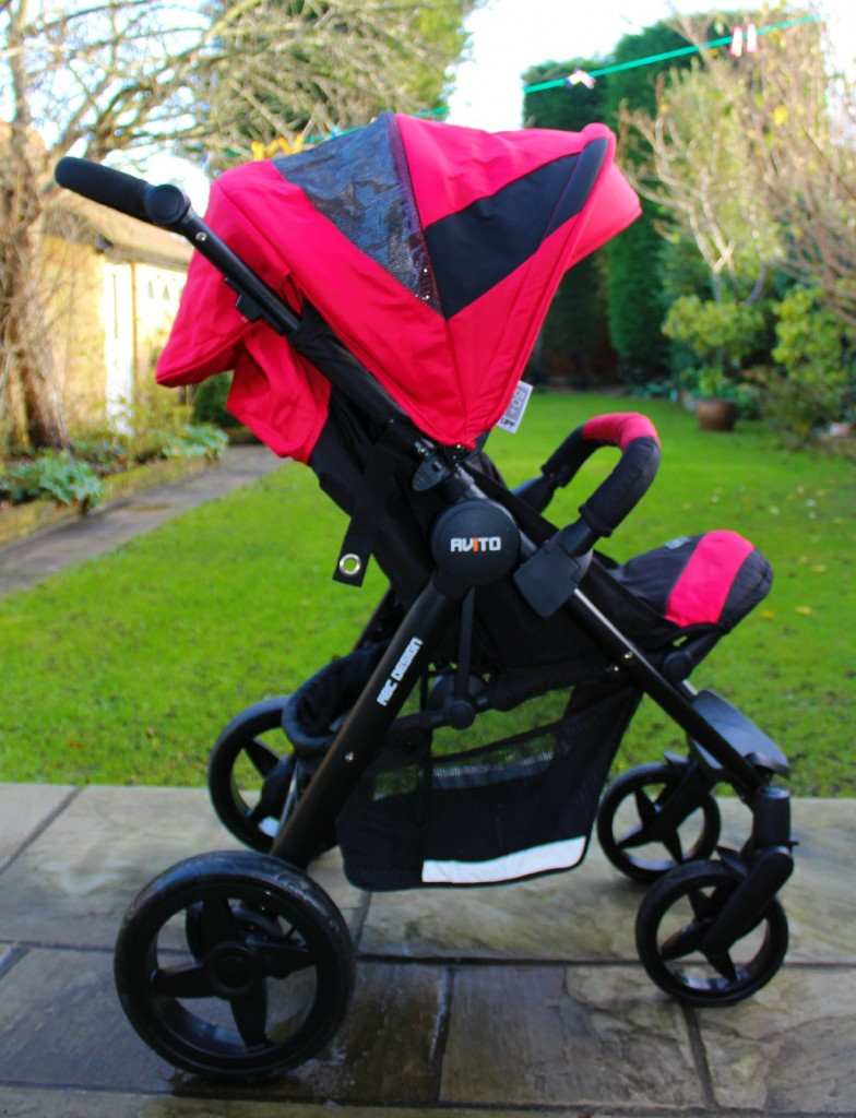 The Avito stroller in gorgeous colour cranberry