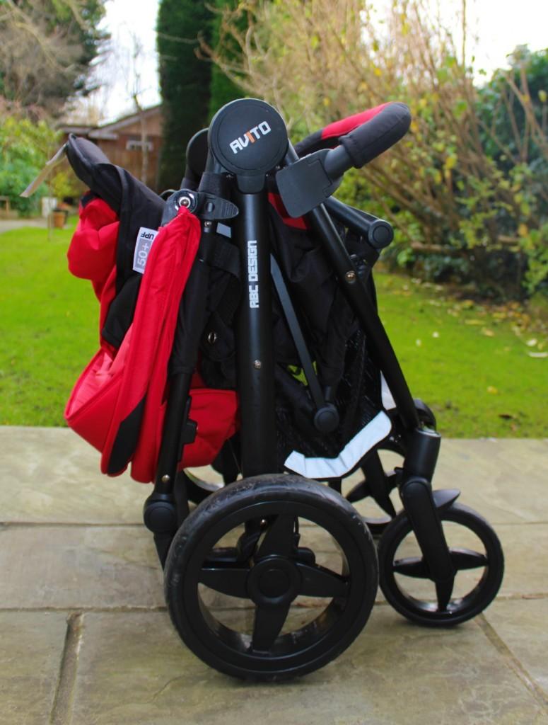 The Avito stroller folded