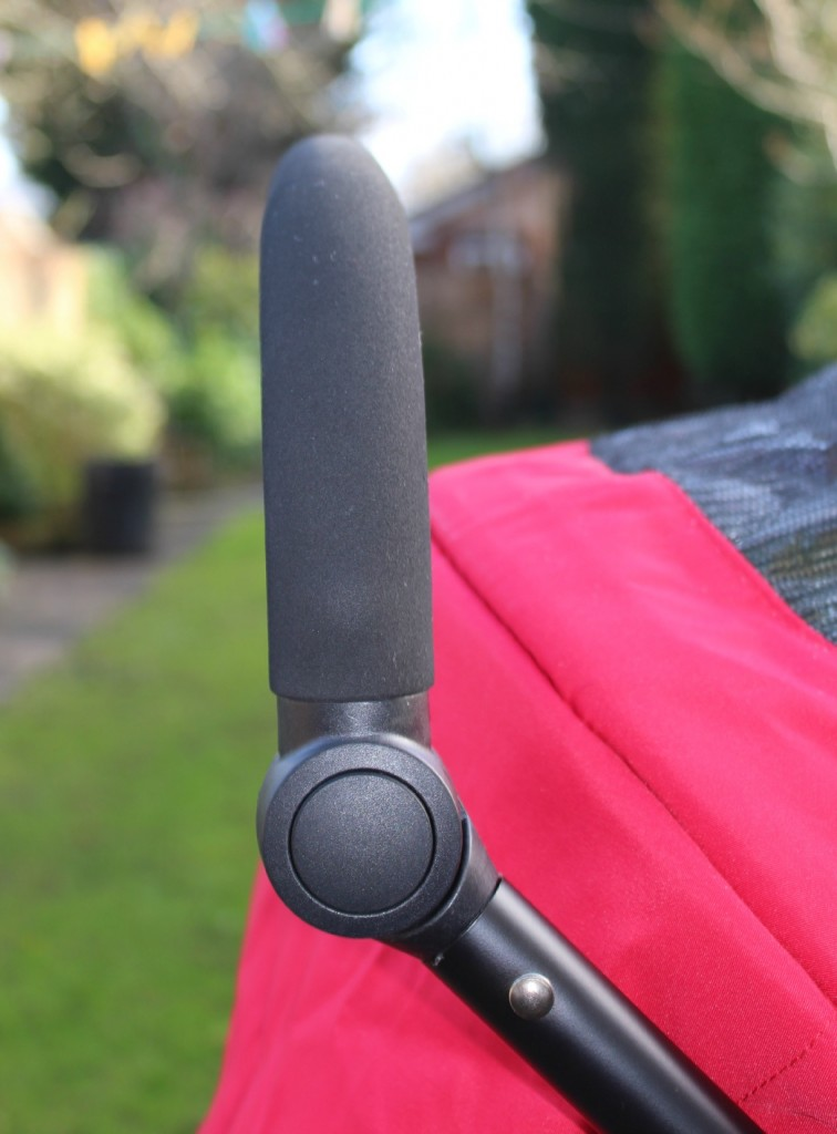 The Avito stroller's higest handle setting