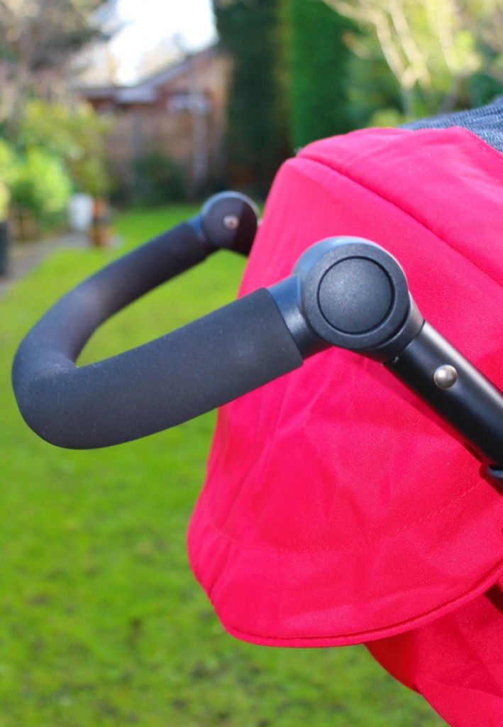 The Avito stroller's lowest handle setting