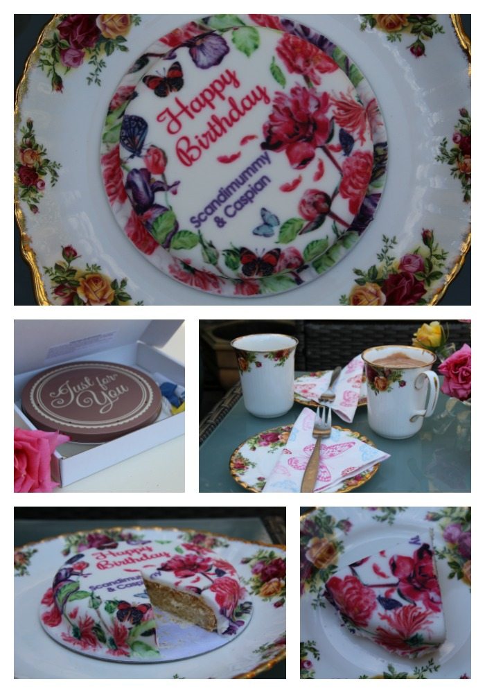 Beautiful sponge cake from bakerdays.com. You can win your very own on the blog now!