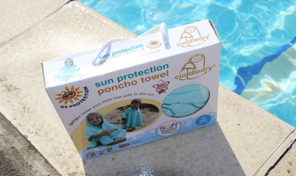 The practical poncho from Cuddledry - perfect for the summer as it has UV protection