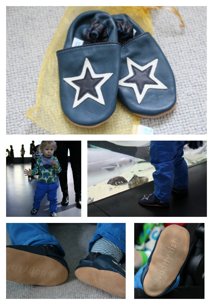 Review the cute and affordable leather shoes from Dotty Fish at where else but the aquarium!