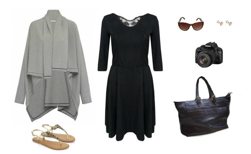What I'll wear for the day events at BML16. Bella dress from Stylish Mamas, grey cashmere cardigan from LondonW11 and my beautiful Francis bag from KeriKit