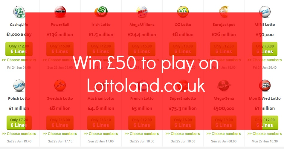 Win £50 to play on lottoland.co.uk over on the blog