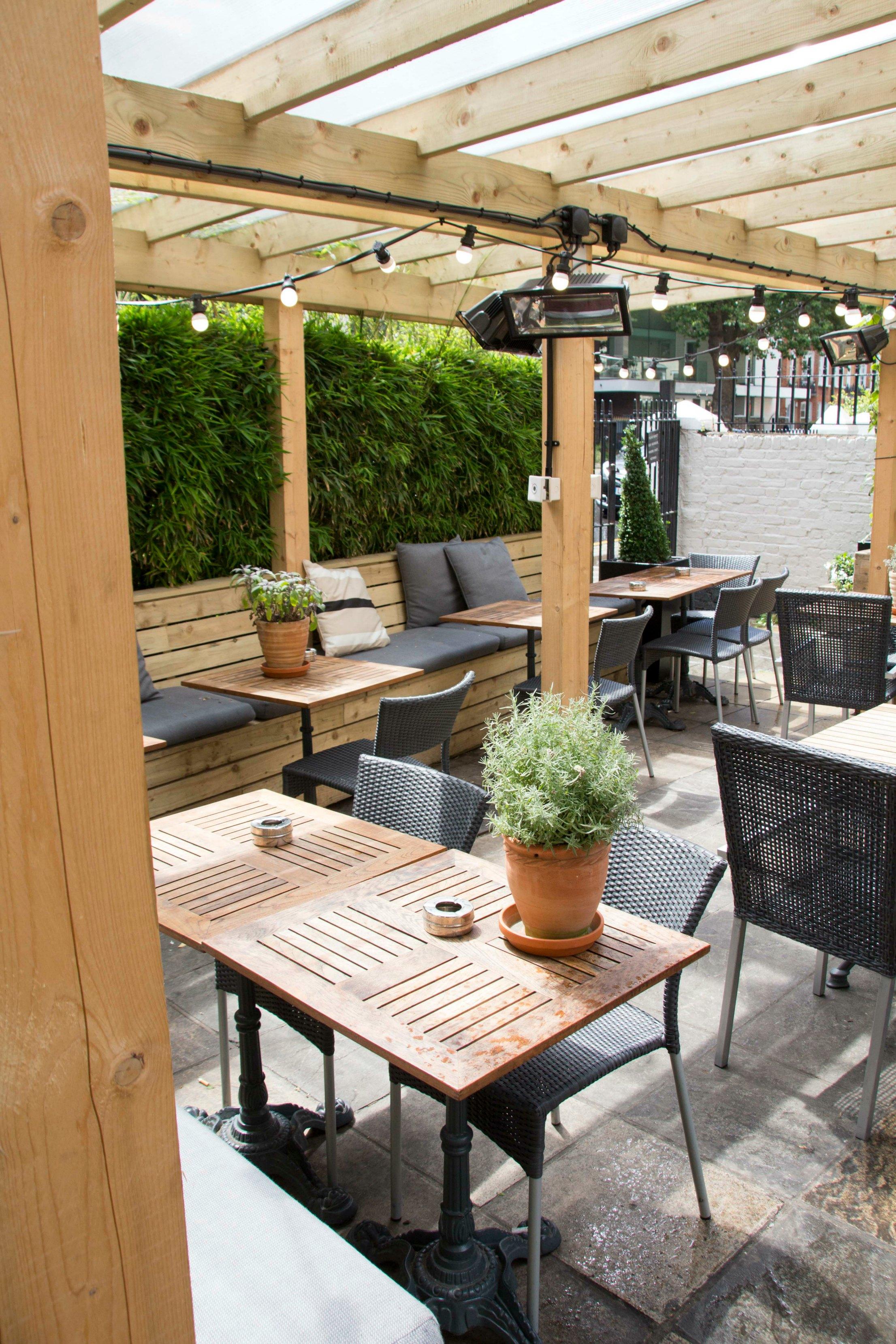 Beer garden at the Prince Albert in Battersea