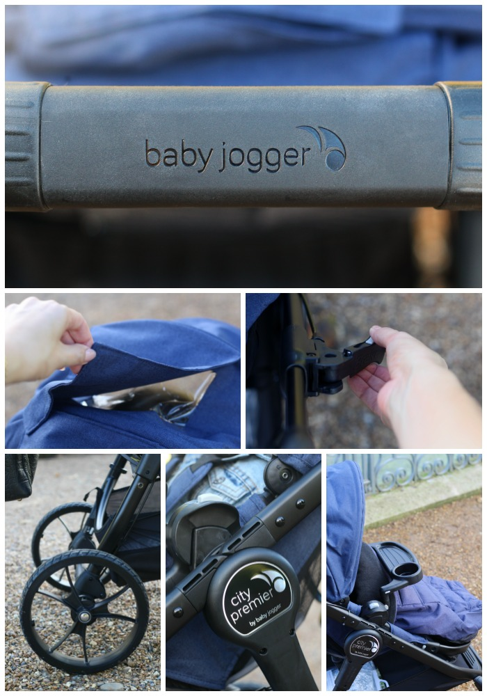 Some of the fantastic features on the Baby Jogger City Premier.