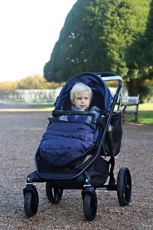 Caspian enjoying the ride in the Baby Jogger City Premier