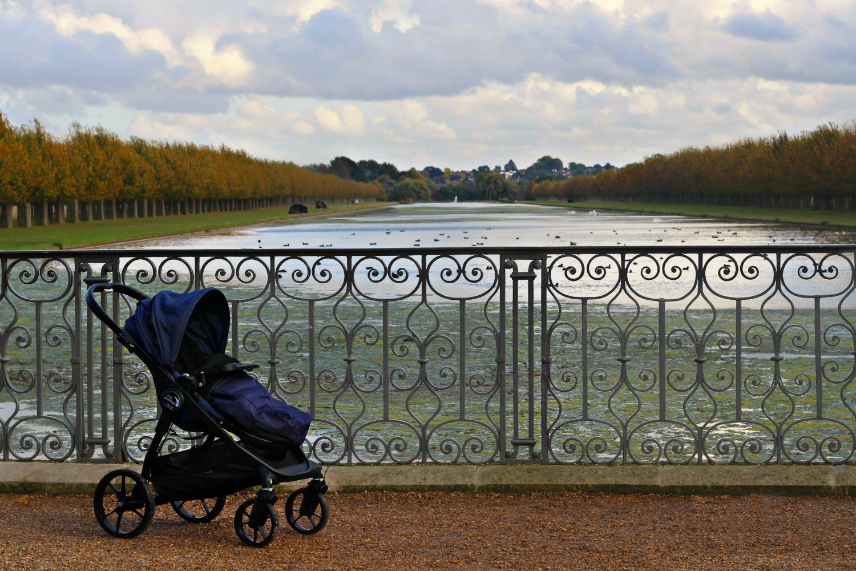 Baby Jogger City Premier at Hampton Court Palace.