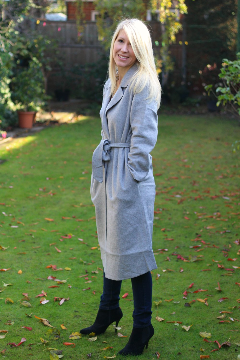 Gorgeous grey wool coat from JOY