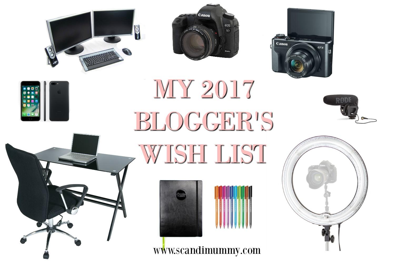 My 2017 blogger's wish list