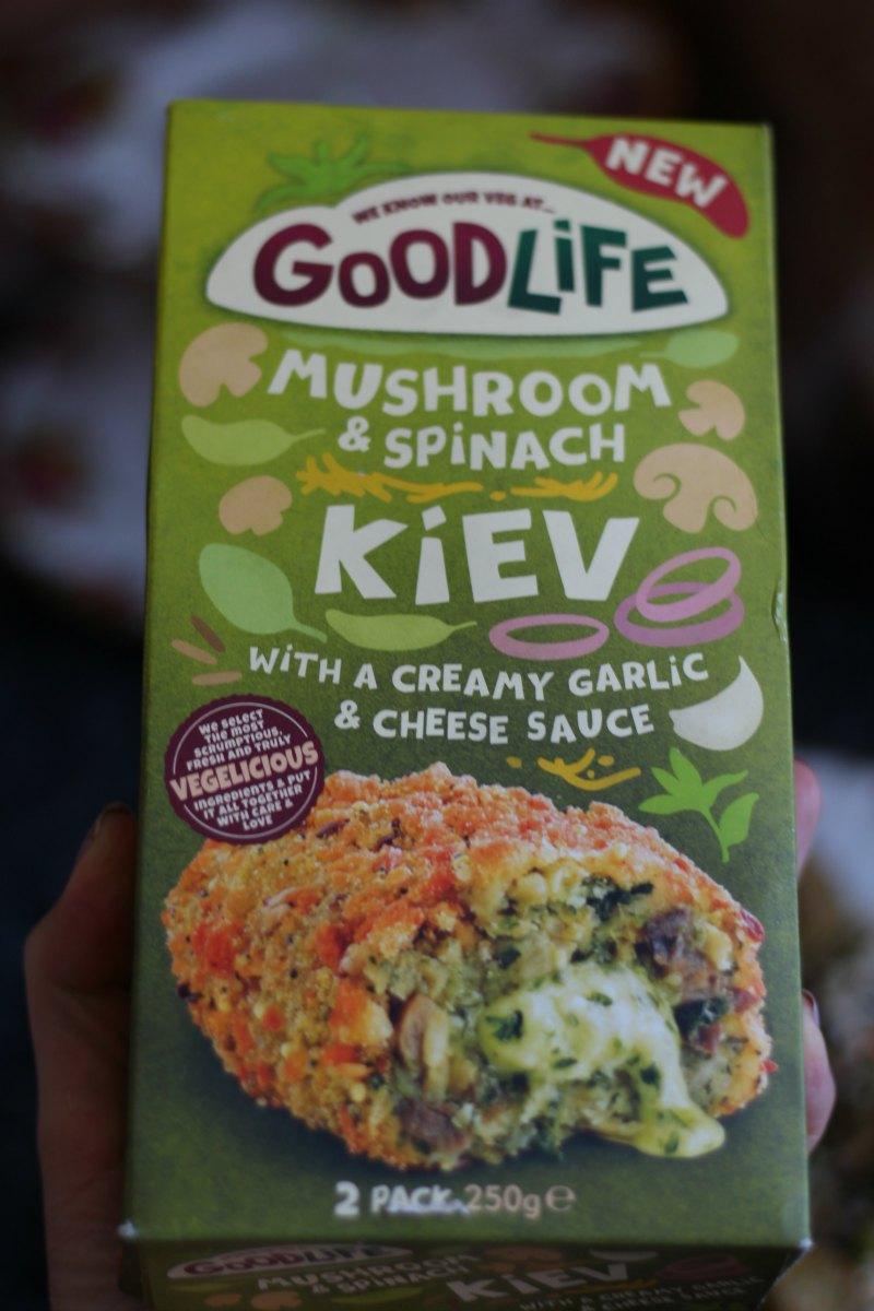 Goodlife Mushroom and Spinach kiev