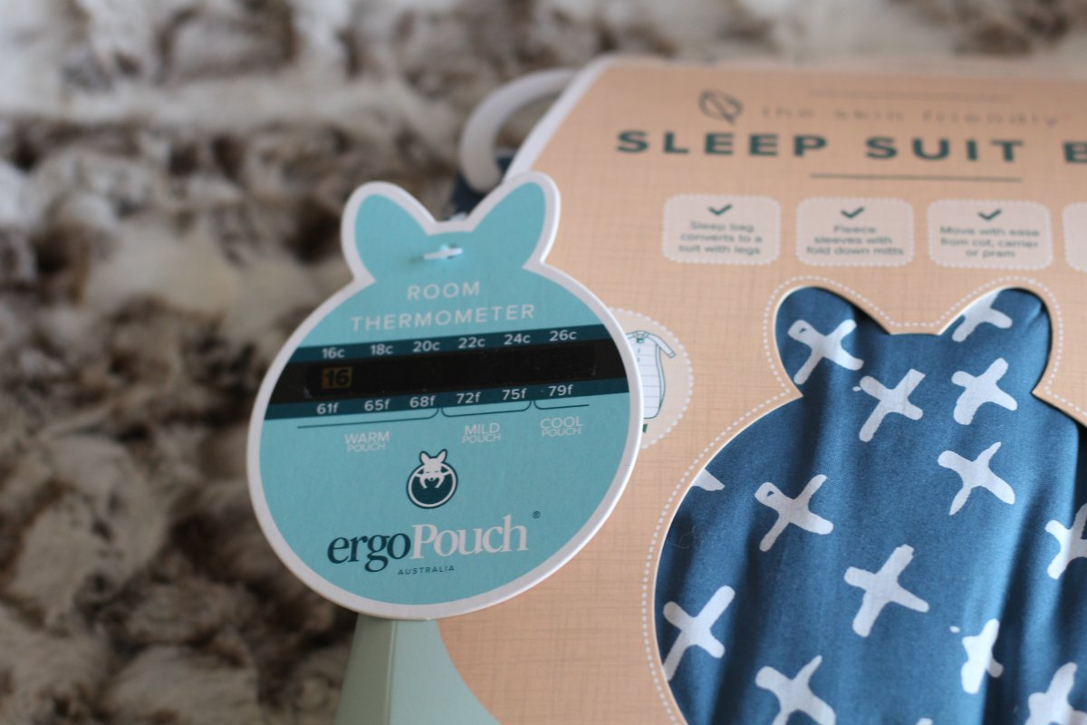 Room thermometer with every ergoPouch sleep suit