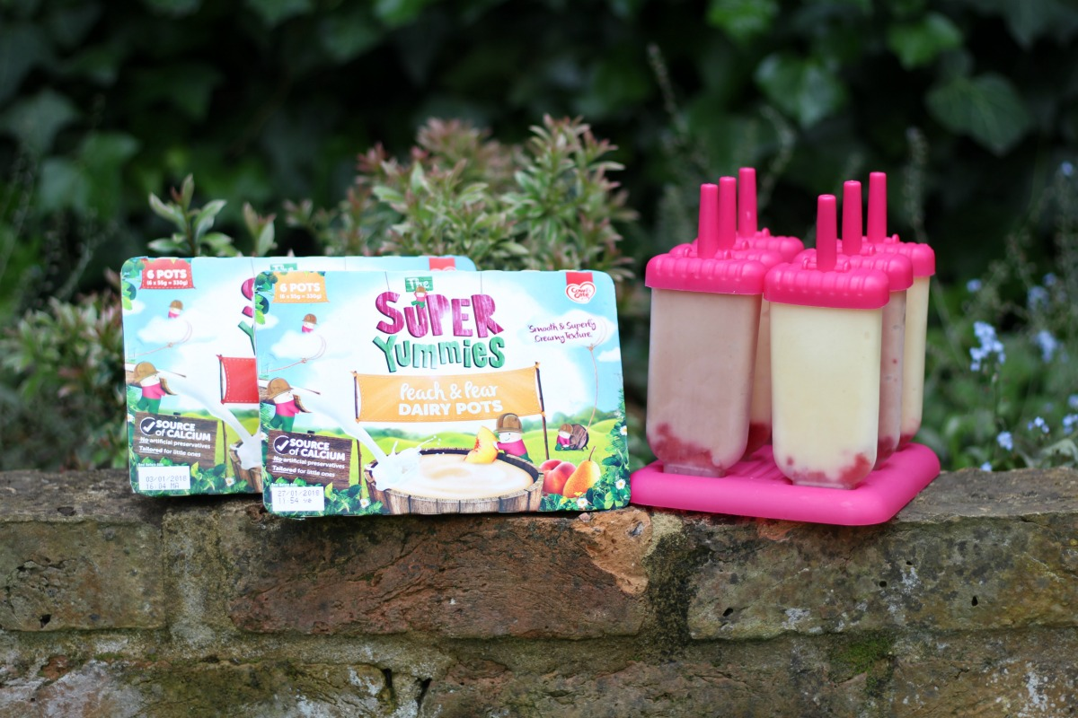 The Super Yummies dairy pots for frozen yoghurt ice lollies