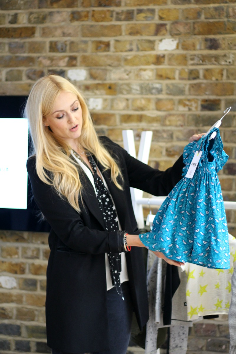 Fearne by Fearne Cotton for Boots Miniclub teal bird print dress