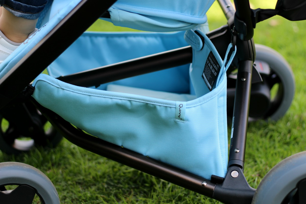 The basket is on the smaller side but can still hold the essentials for on the go with the new Quinny Zapp Flex