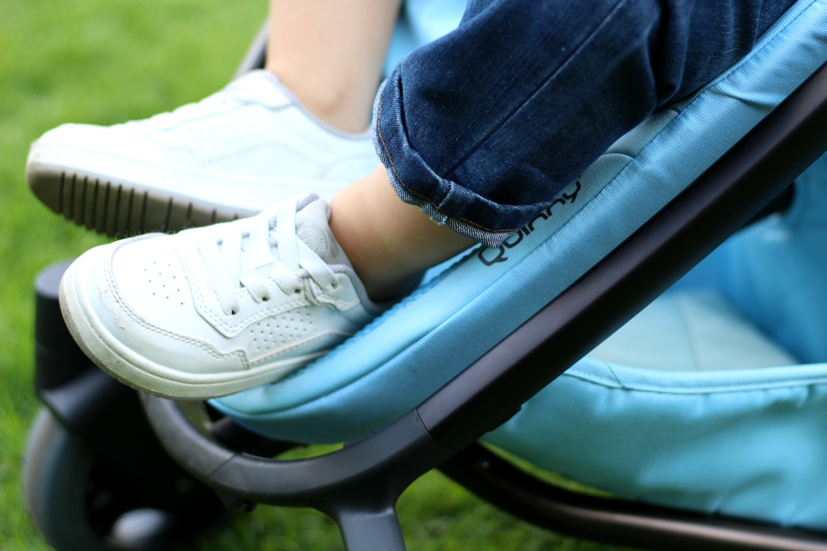 Clever coating to keep the foot rest clean on the new Quinny Zapp Flex