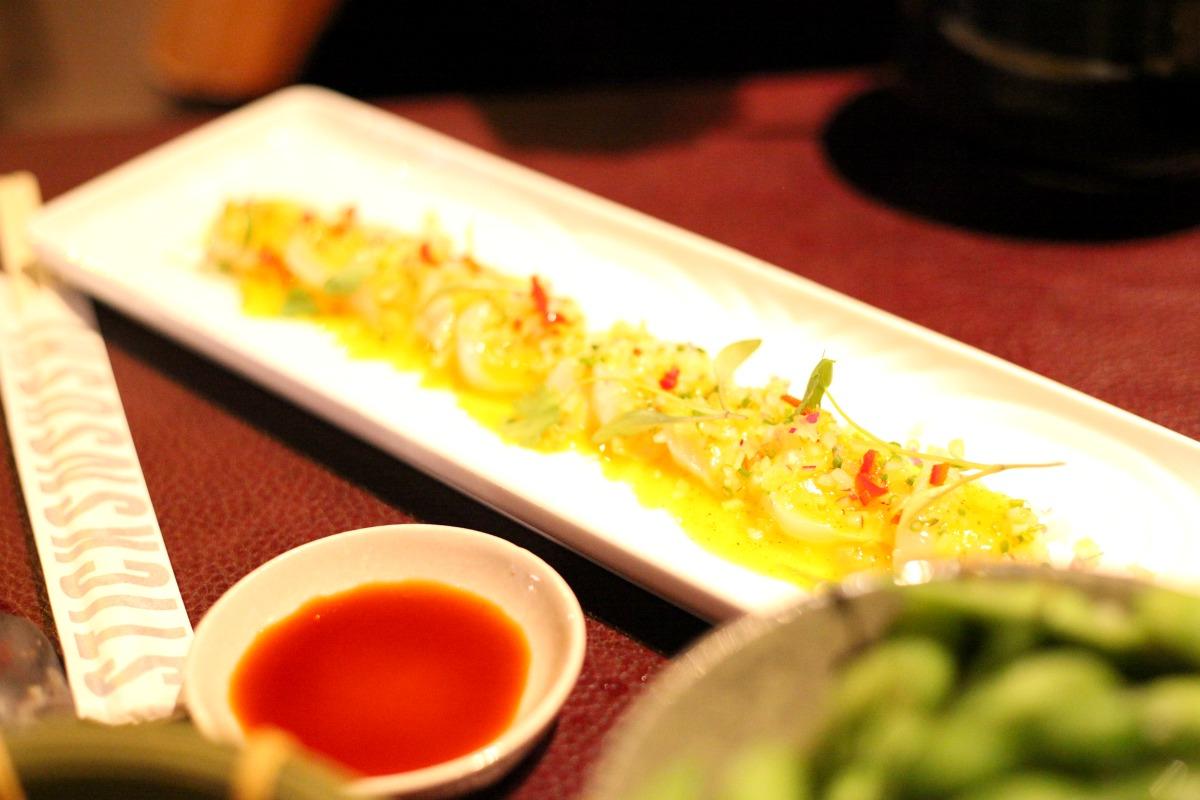 Marinated scallops at Sticks 'n' Sushi Wimbledon