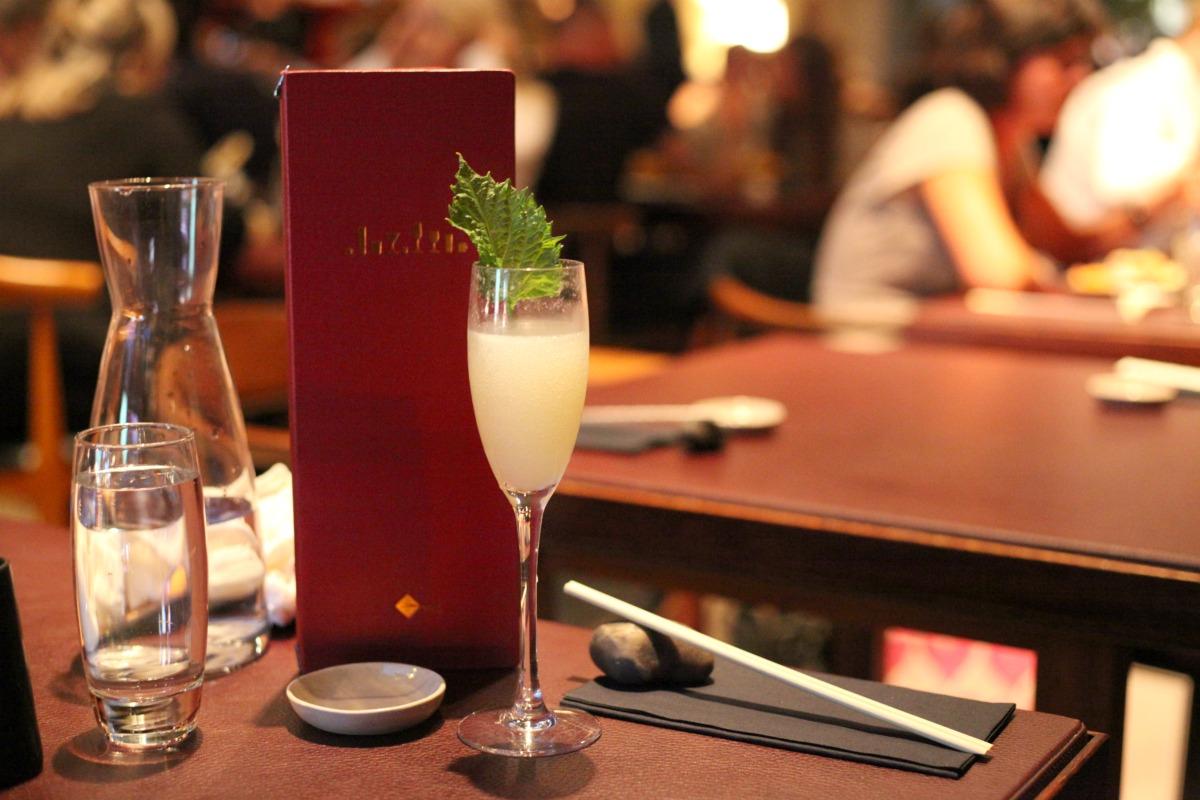 Nipon 75 cocktail at Sticks 'n' Sushi Wimbledon