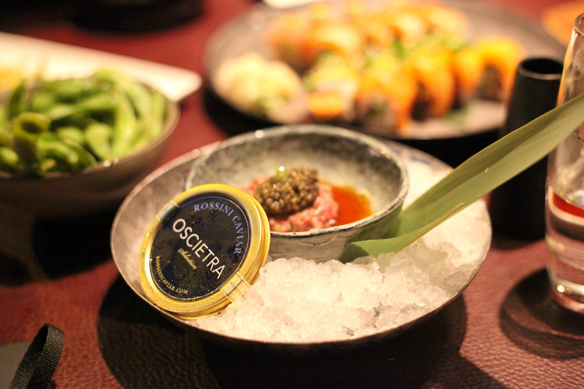 Wagu Beef Tartar with Caviar at Sticks 'n' Sushi Wimbledon