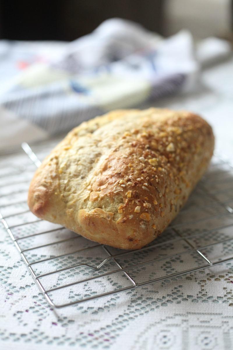 Freshly baked cornbread