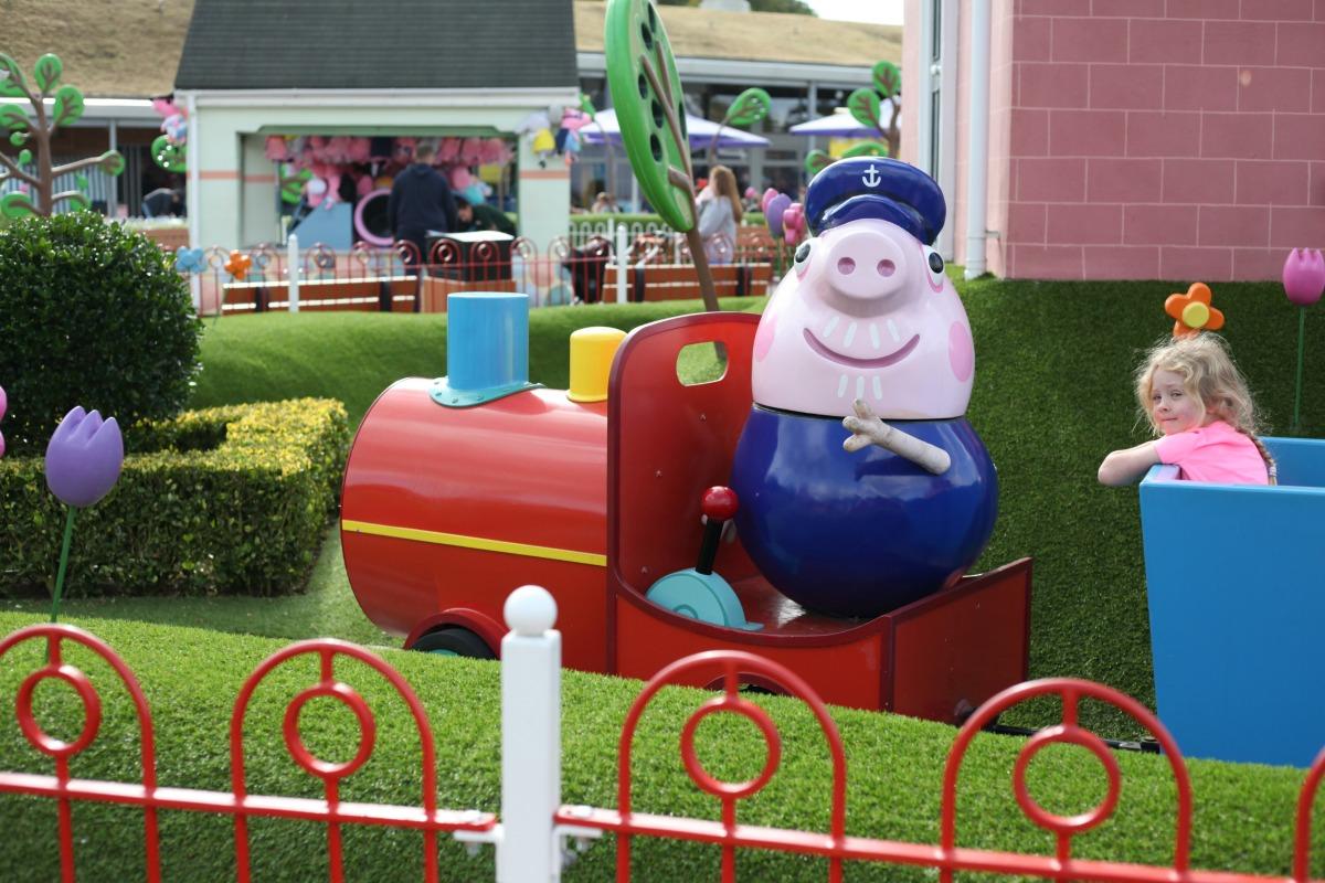 The train ride at Peppa Pig World