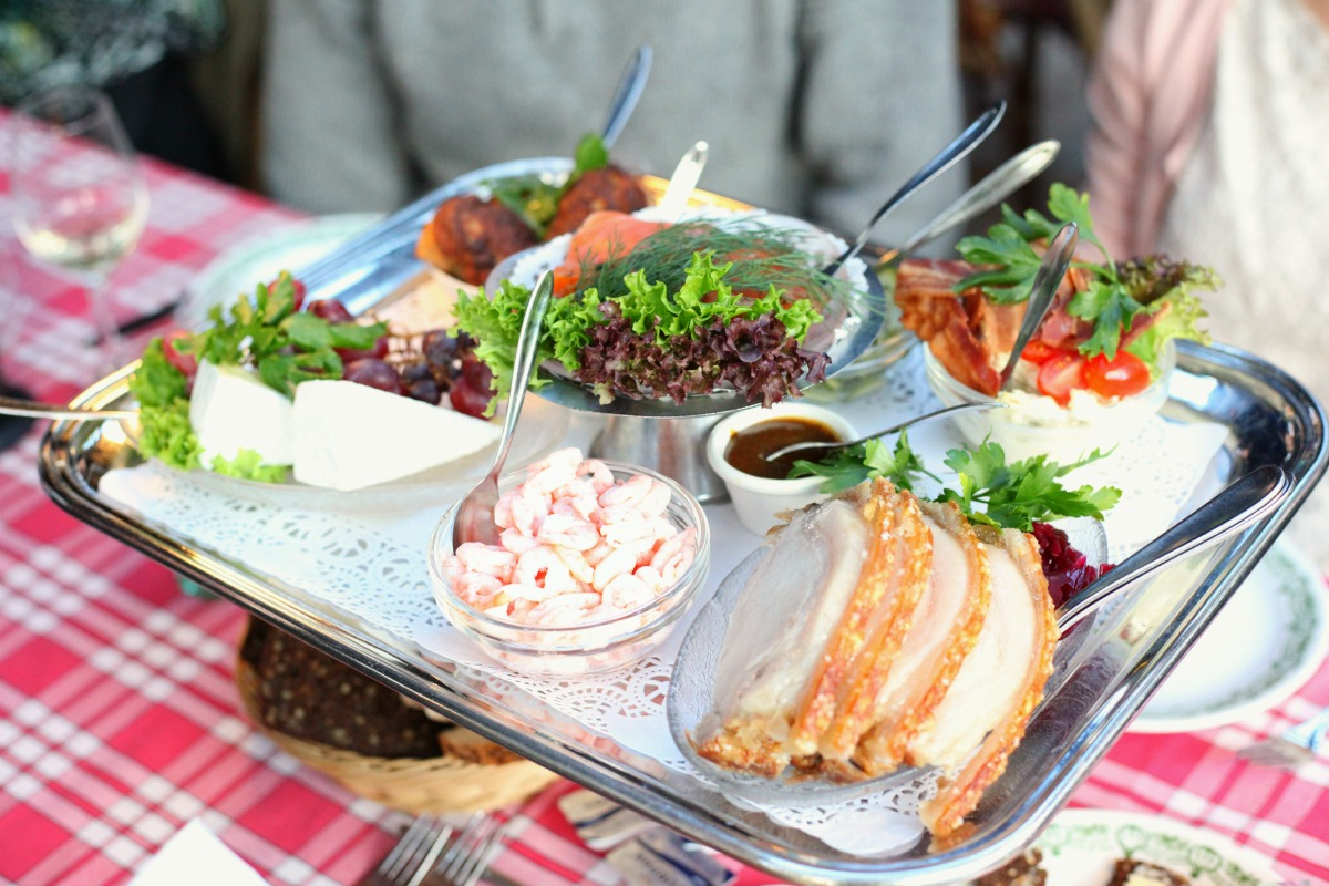 Classic Danish open sandwiches at Groften, Tivoli Gardens