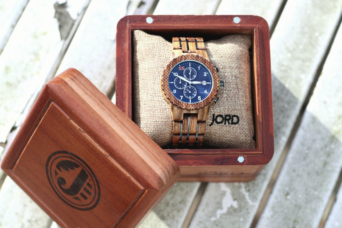 Conway in Kosso & Midnight Blue in box from JORD Wood Watches