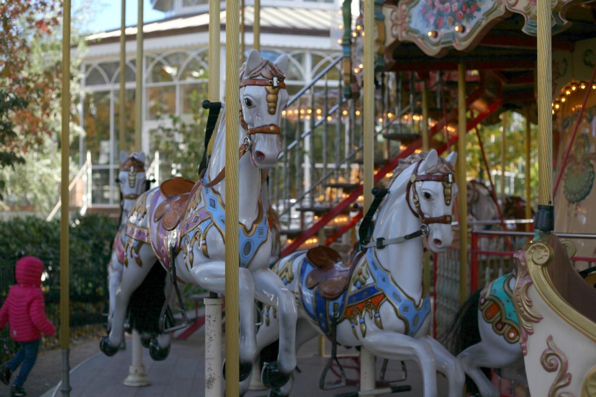 The merry-go-round in Tivoli Gardens, Copenhagen, Denmark