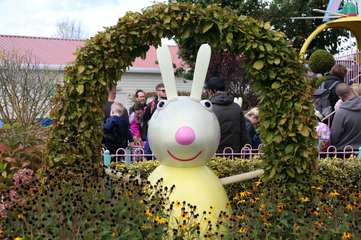 Miss Rabbit at Peppa Pig World