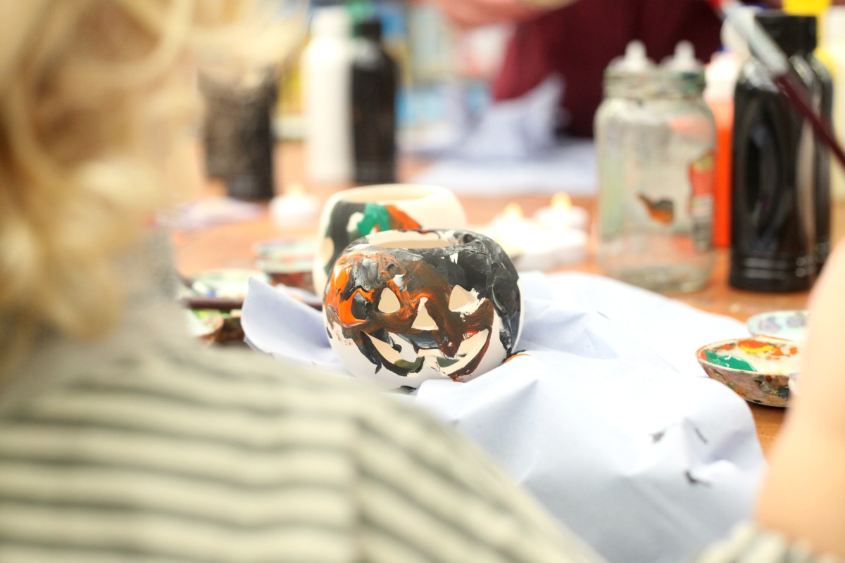 A scary Halloween pumpkin lantern