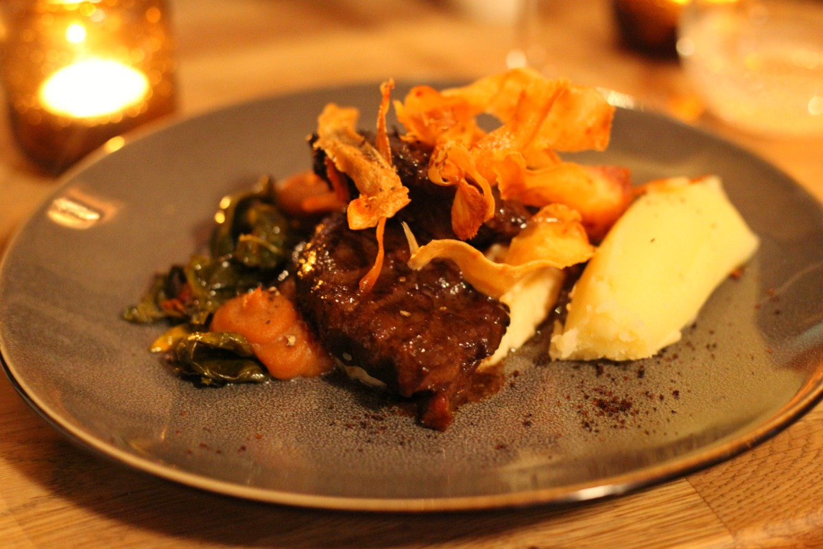 Pork cheeks at Snaps & Rye in Notting Hill