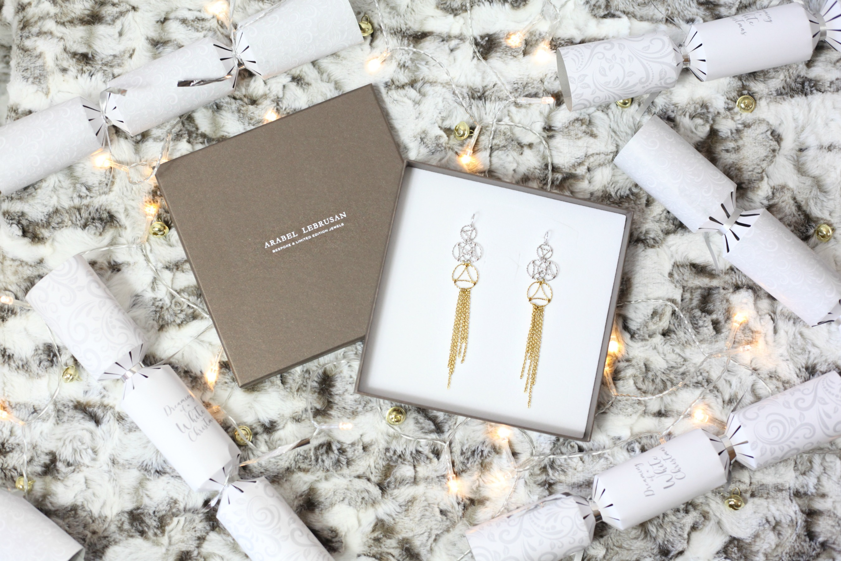 Luxurious Christmas gift ideas from Arabel Lebrusan like these gorgeous earrings