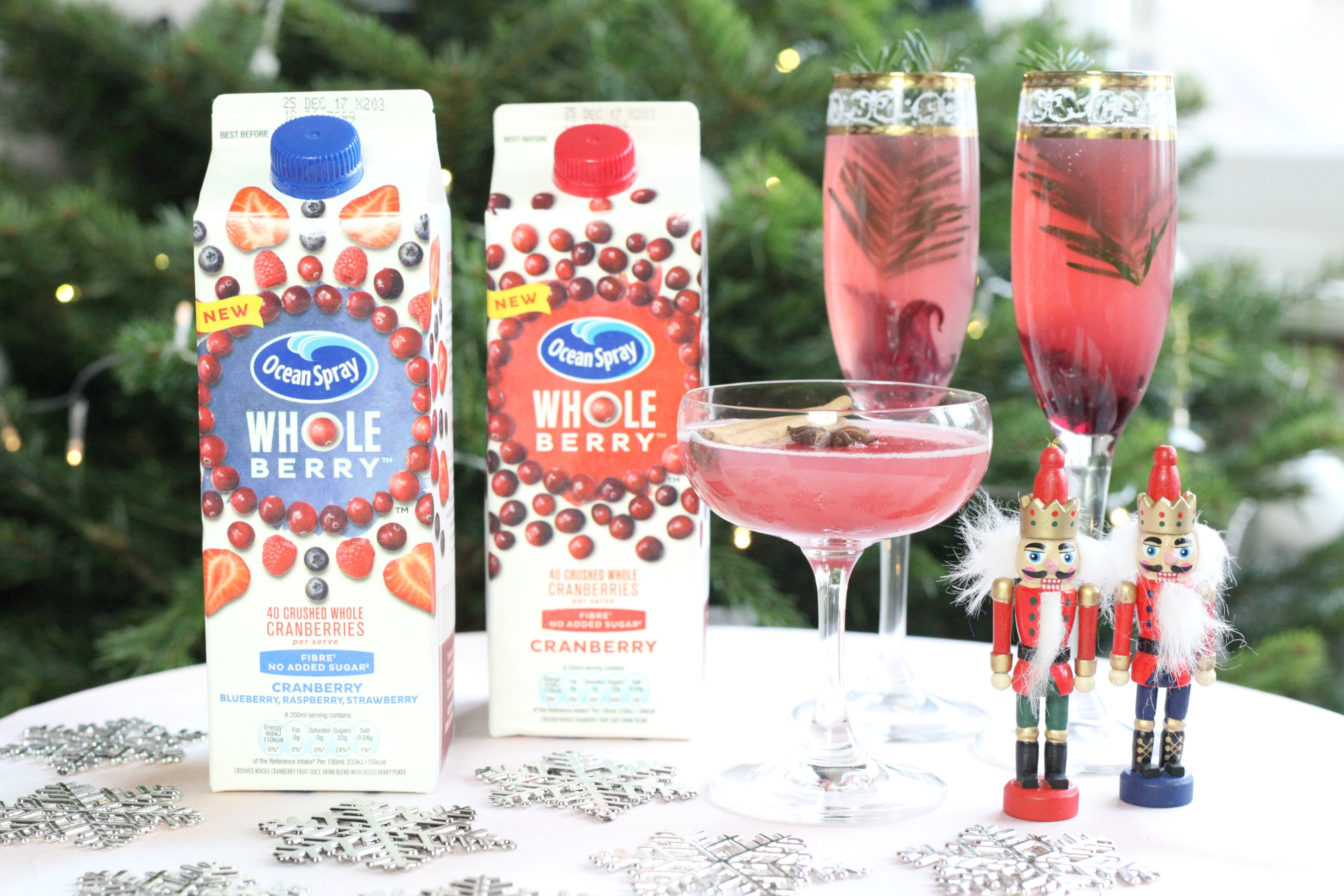 Festive Christmas cocktails using new Ocean Spray Wholeberry