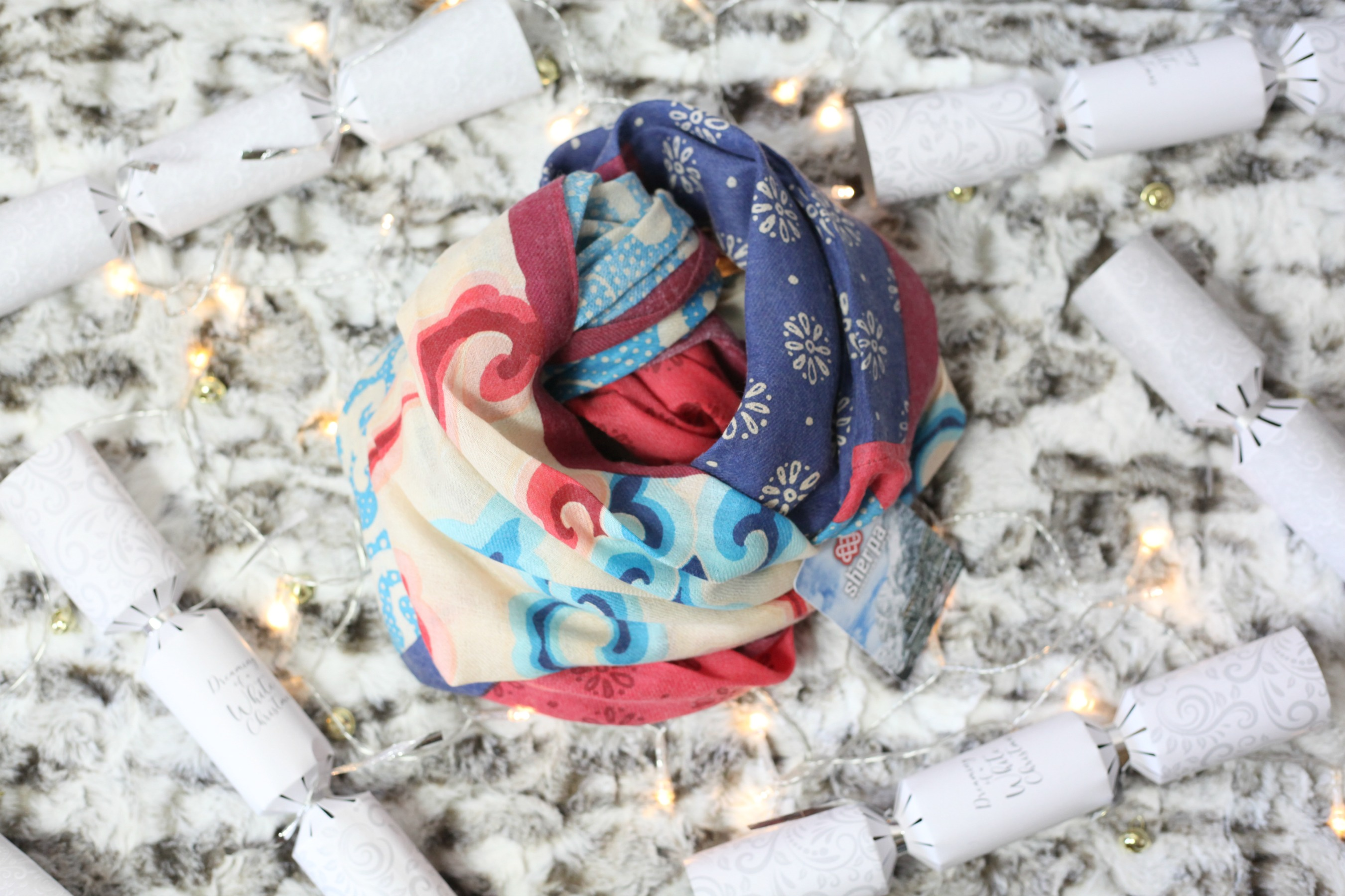 Luxurious Christmas gift ideas from like this Sherpa scarf