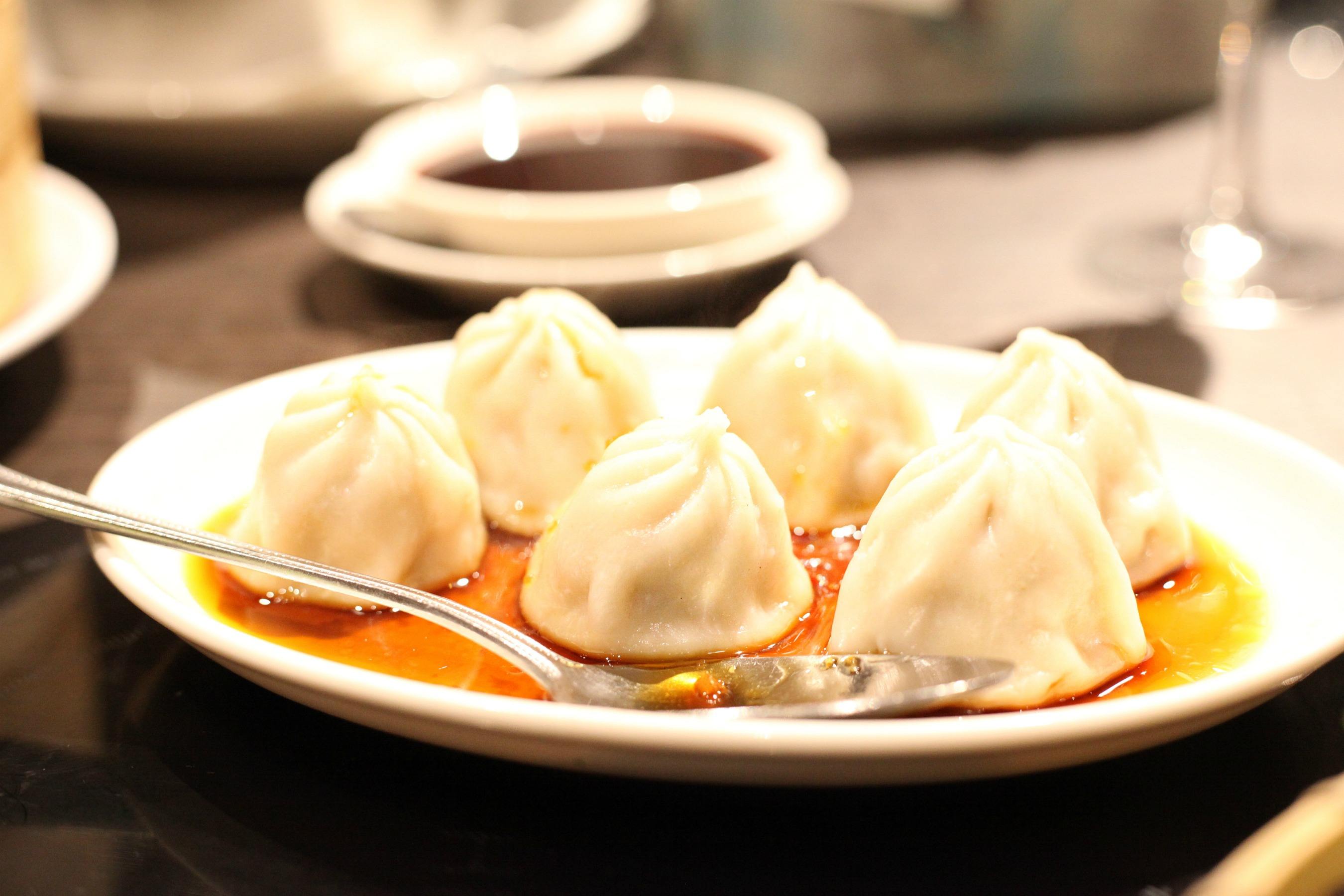 Spicy dumplings at Golden Dragon within Bang, Bang Oriental