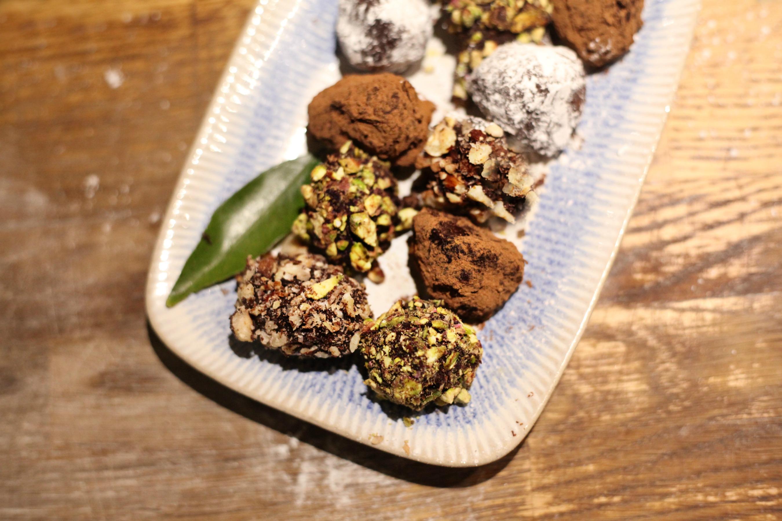 Learn how to make festive chocolate truffles