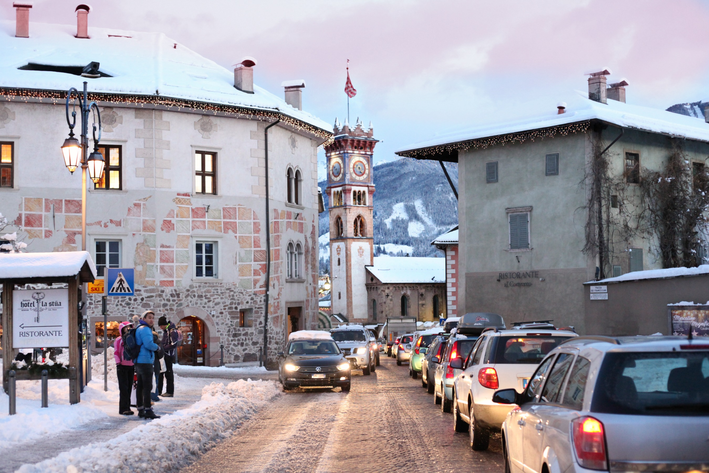The beautifully town of Cavalese, Val di Fiemme, Italy