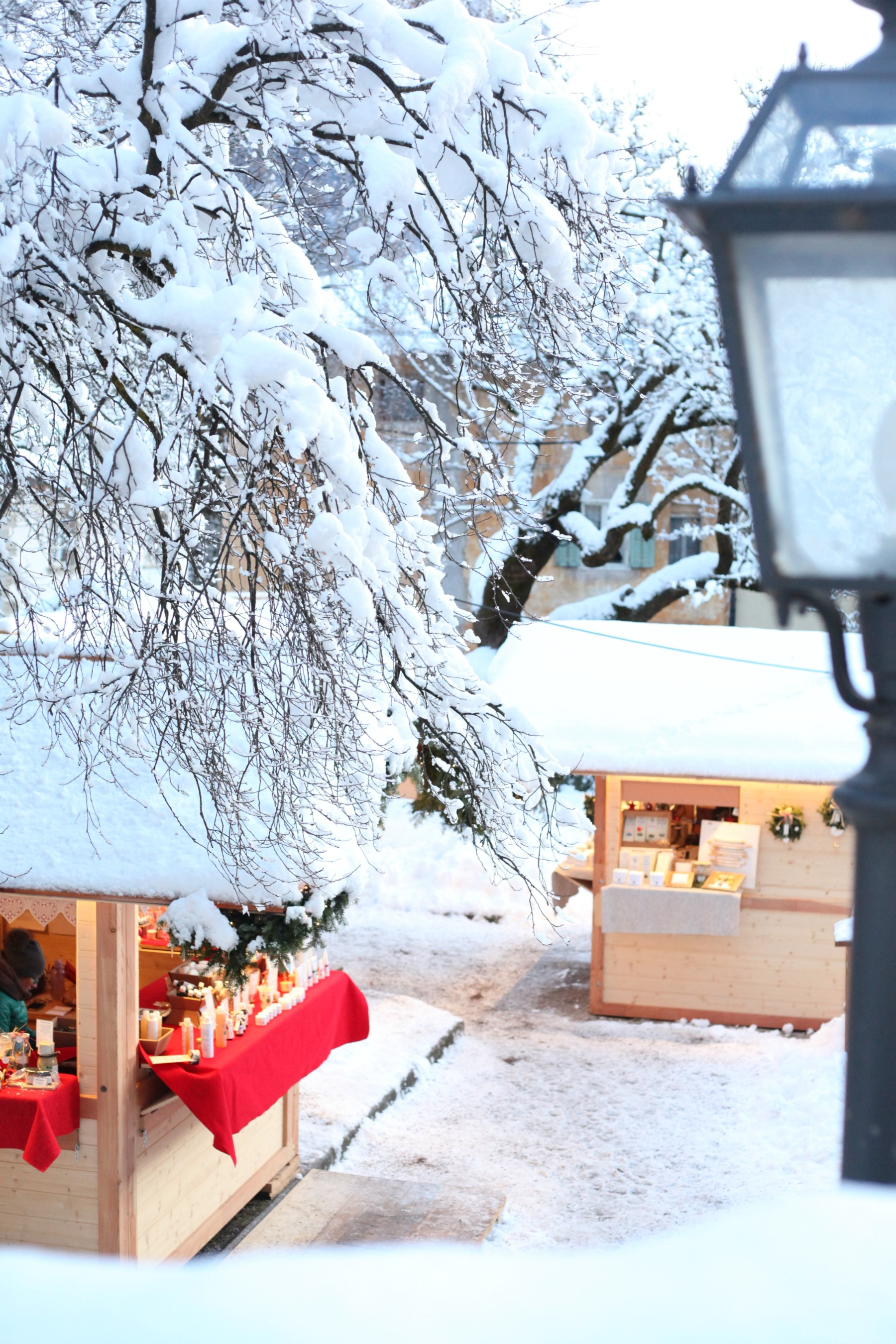 Christmas market in Cavalese, Val di Fiemme, Italy